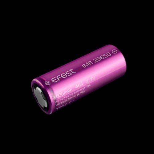 Μπαταρία Efest Purple IMR 26650 5000mAh 45A